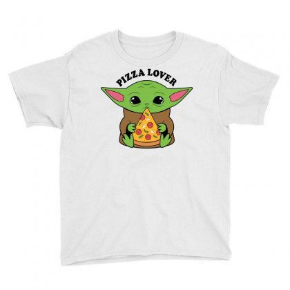 Baby Yoda Pizza Lover Youth Tee Designed By Honeysuckle