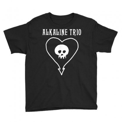 Alkaline Trio Classic Heartskull   Official Merch T Shirt Youth Tee Designed By Cuser1744