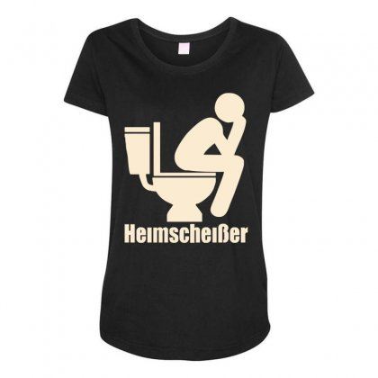 Heimscheißer Funny Maternity Scoop Neck T-shirt Designed By Toldo
