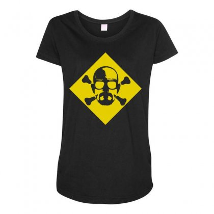 Heisenberg Skull & Crossbones Maternity Scoop Neck T-shirt Designed By Toldo