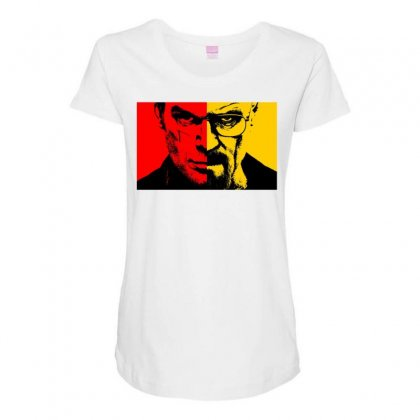Heisenberg Vs Dexter Maternity Scoop Neck T-shirt Designed By Toldo