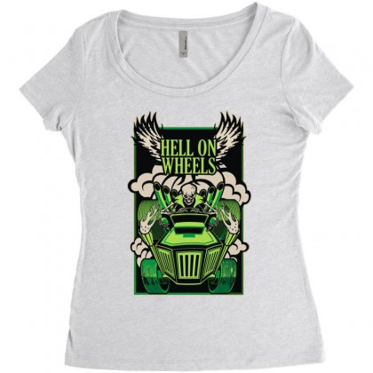 Hell On Wheels Version Two Women's Triblend Scoop T-shirt Designed By Toldo
