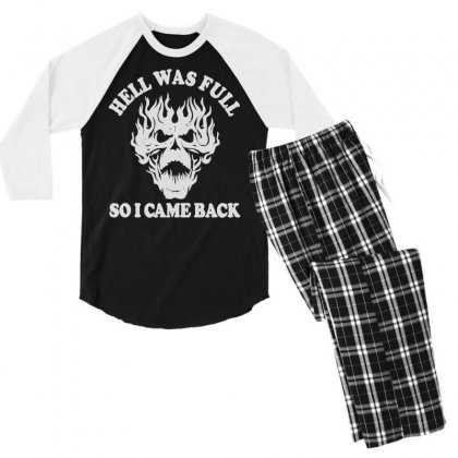 Hell Was Full So I Came Back (2) Men's 3/4 Sleeve Pajama Set Designed By Toldo