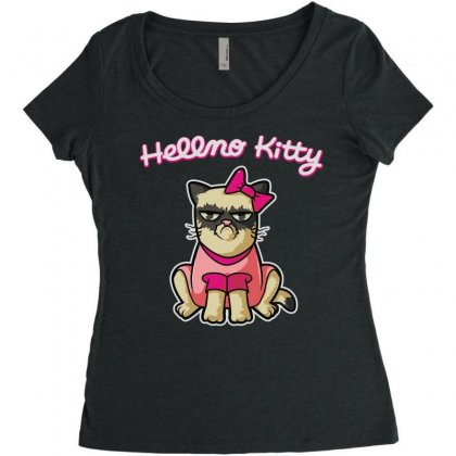 Hellno Kitty Women's Triblend Scoop T-shirt Designed By Toldo