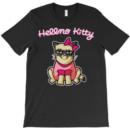 Hellno Kitty T-shirt Designed By Toldo
