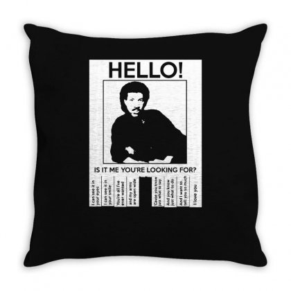 Hello Is It Me You're Looking For (2) Throw Pillow Designed By Toldo