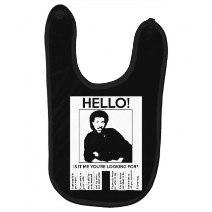 Hello Is It Me You're Looking For (2) Baby Bibs Designed By Toldo