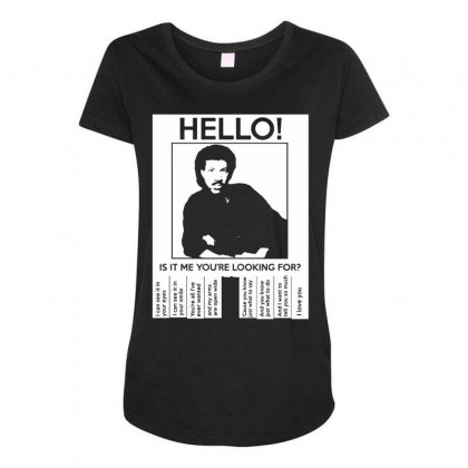 Hello Is It Me You're Looking For (2) Maternity Scoop Neck T-shirt Designed By Toldo