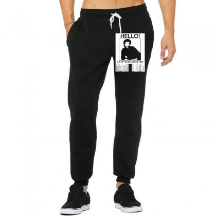 Hello Is It Me You're Looking For (2) Unisex Jogger Designed By Toldo