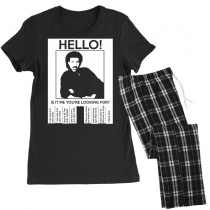 Hello Is It Me You're Looking For (2) Women's Pajamas Set Designed By Toldo