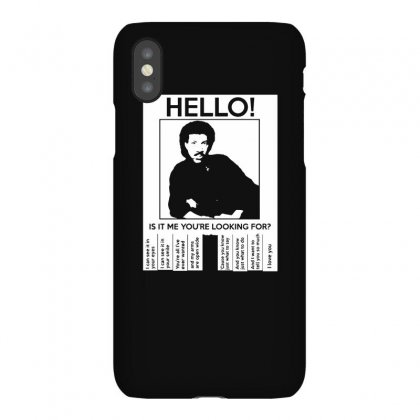 Hello Is It Me You're Looking For (2) Iphonex Case Designed By Toldo