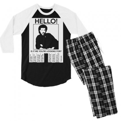 Hello Is It Me You're Looking For Men's 3/4 Sleeve Pajama Set Designed By Toldo