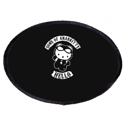 Hello Kitty Sons Of Anarchy Mashup Funny Oval Patch Designed By Toldo