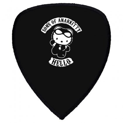 Hello Kitty Sons Of Anarchy Mashup Funny Shield S Patch Designed By Toldo
