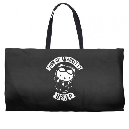 Hello Kitty Sons Of Anarchy Mashup Funny Weekender Totes Designed By Toldo
