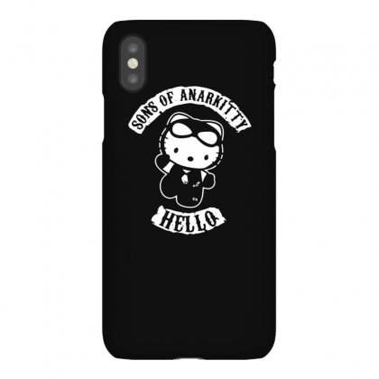 Hello Kitty Sons Of Anarchy Mashup Funny Iphonex Case Designed By Toldo