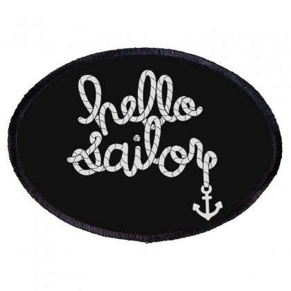 Hello Sailor Typography Oval Patch Designed By Toldo