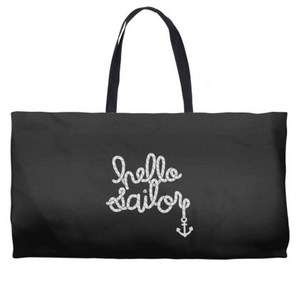 Hello Sailor Typography Weekender Totes Designed By Toldo