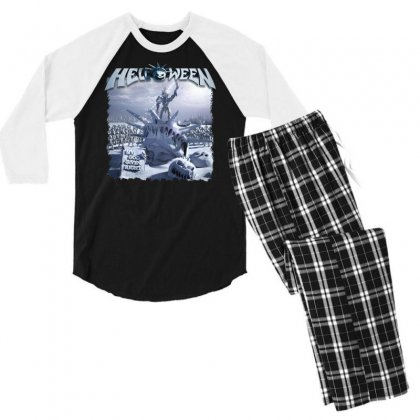 Helloween 2015 My God Given Right Men's 3/4 Sleeve Pajama Set Designed By Toldo