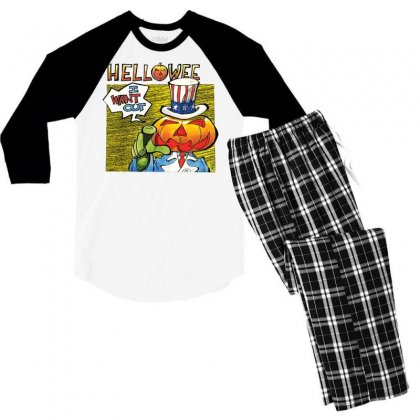 Helloween I Want Out Men's 3/4 Sleeve Pajama Set Designed By Toldo