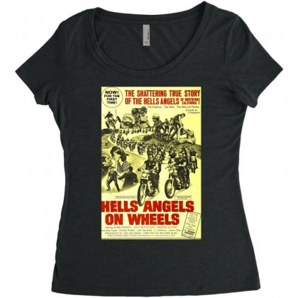 Hells Angels On Wheels Movie Poster Women's Triblend Scoop T-shirt Designed By Toldo