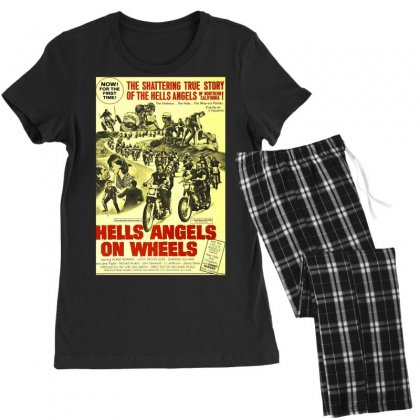 Hells Angels On Wheels Movie Poster Women's Pajamas Set Designed By Toldo