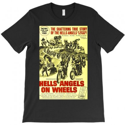 Hells Angels On Wheels Movie Poster T-shirt Designed By Toldo