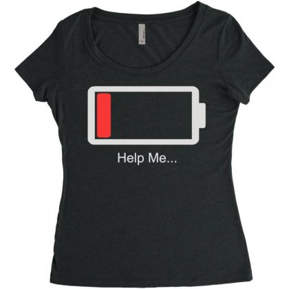 Help Me Energy Low Women's Triblend Scoop T-shirt Designed By Toldo