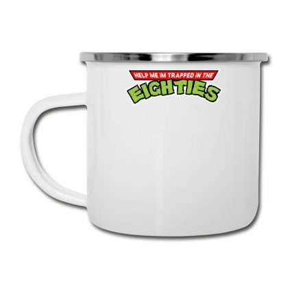 Help Me Im Trapped In The Eighties Camper Cup Designed By Toldo