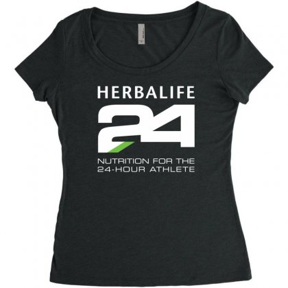 Herbalife 24 Fit Women's Triblend Scoop T-shirt Designed By Toldo