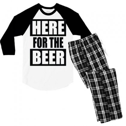 Here For The Beer Men's 3/4 Sleeve Pajama Set Designed By Toldo