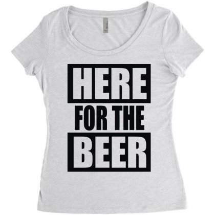 Here For The Beer Women's Triblend Scoop T-shirt Designed By Toldo