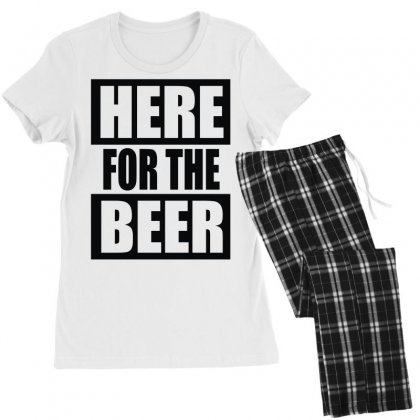 Here For The Beer Women's Pajamas Set Designed By Toldo