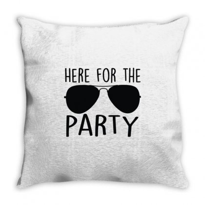 Here For The Party Throw Pillow Designed By Toldo