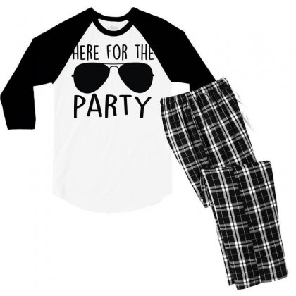 Here For The Party Men's 3/4 Sleeve Pajama Set Designed By Toldo