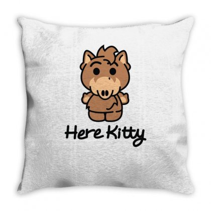 Here Kitty Throw Pillow Designed By Toldo