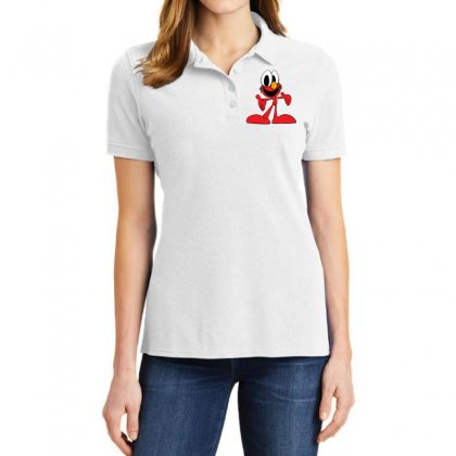 Here's Elmo Ladies Polo Shirt Designed By Toldo