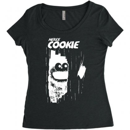Here's Johnny Cookie Women's Triblend Scoop T-shirt Designed By Toldo