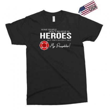 Hero Daughter   Firefighter Exclusive T-shirt Designed By Toldo