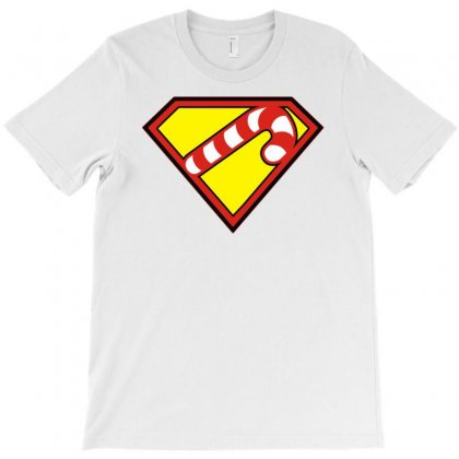Hero Holidays   Xmas, Christmas Super Candy Cane T-shirt Designed By Toldo