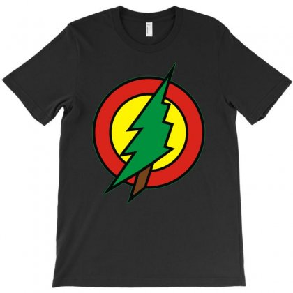 Hero Holidays   Xmas, Christmas Tree Superhero Logo T-shirt Designed By Toldo