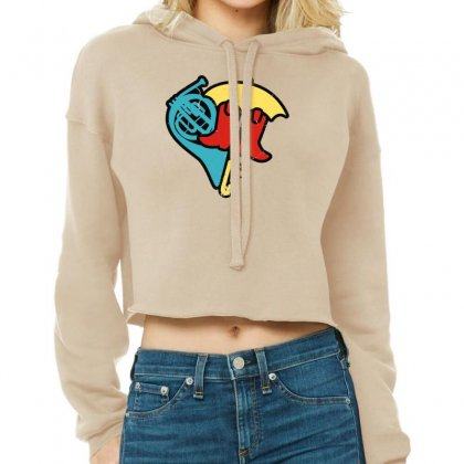 Hey Beautiful Cropped Hoodie Designed By Toldo