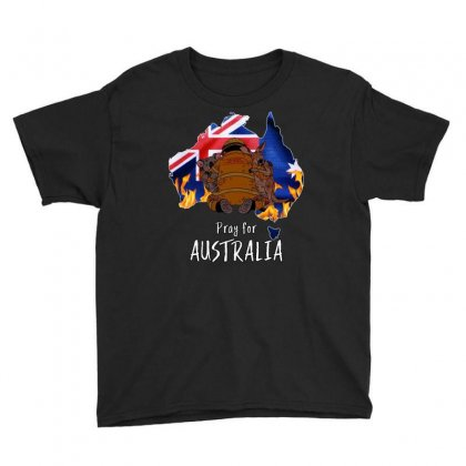 Pray For Australia Youth Tee Designed By Omer Acar