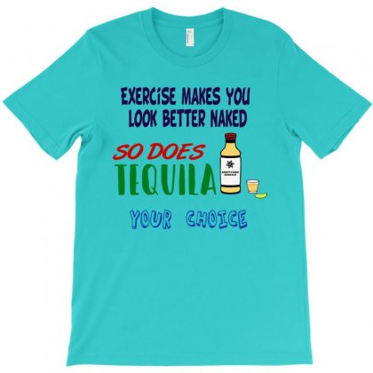 Exercise Vs. Drink T-shirt Designed By Lotus Fashion Realm