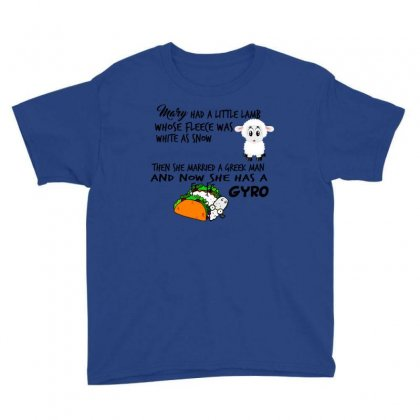 Mary Had A Little Gyro Too Youth Tee Designed By Lotus Fashion Realm