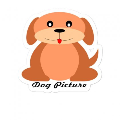 Dog Picture Sticker Designed By M-store