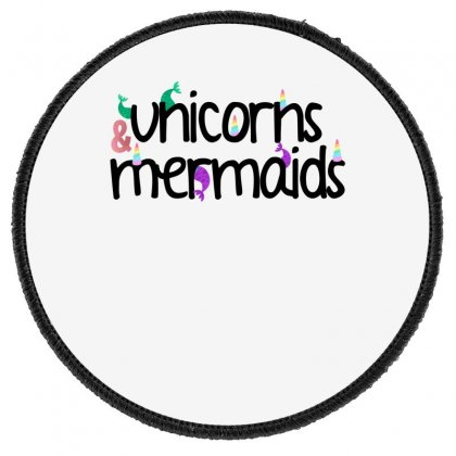 Unicorns And Mermaids For Light Round Patch Designed By Sengul