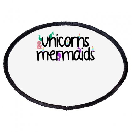 Unicorns And Mermaids For Light Oval Patch Designed By Sengul