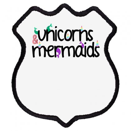 Unicorns And Mermaids For Light Shield Patch Designed By Sengul