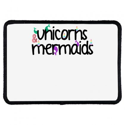 Unicorns And Mermaids For Light Rectangle Patch Designed By Sengul